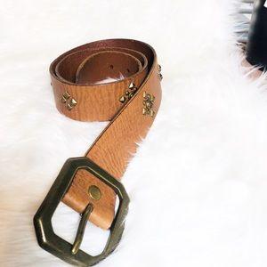 Banana Republic leather studded belt